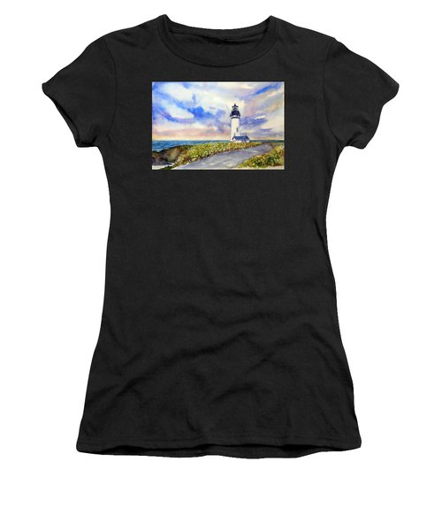 Yaquina Head Lighthouse - Springtime Women's T-Shirt (Athletic Fit)