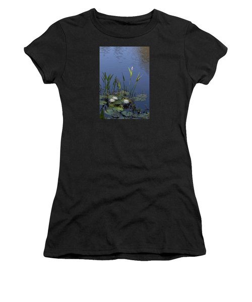 Yawkey Wildlife Reguge Water Lilies With Rare Plant Women's T-Shirt (Athletic Fit)