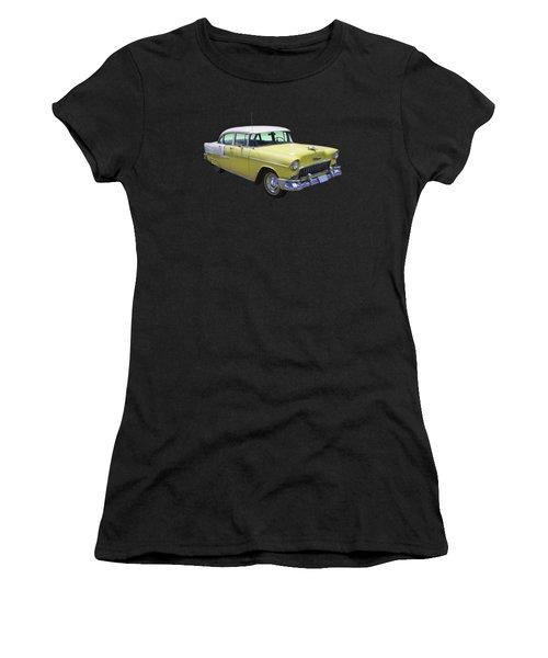 Yellow 1955 Chevrolet Bel Air Women's T-Shirt