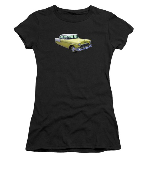 Yellow 1955 Chevrolet Bel Air Women's T-Shirt (Athletic Fit)