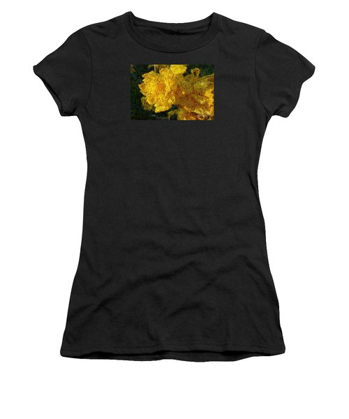 Yellow Abstraction Women's T-Shirt (Athletic Fit)