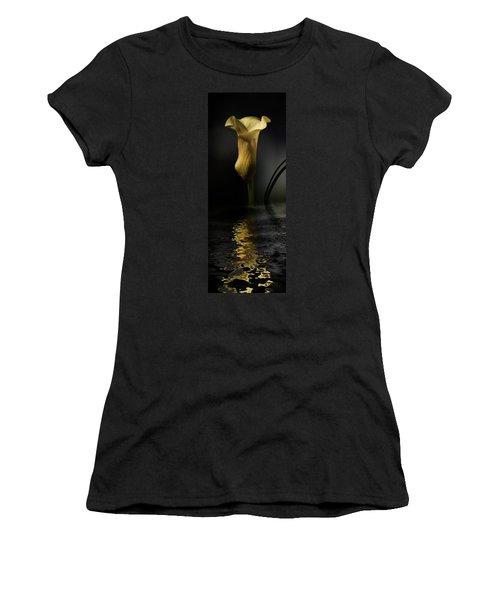 Yellow And Gray Women's T-Shirt (Athletic Fit)