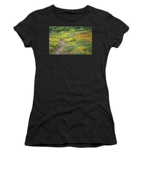 Yellow And Orange Wildflowers Along Trail Near Diamond Lake Women's T-Shirt (Athletic Fit)