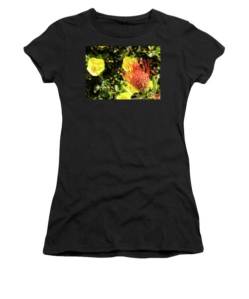 Yellow And Red Women's T-Shirt (Athletic Fit)