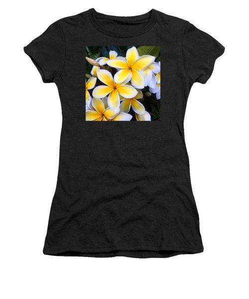 Yellow And White Plumeria Women's T-Shirt