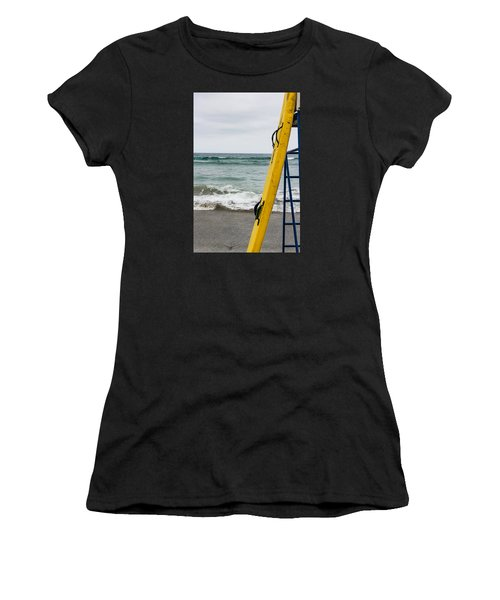 Yellow Surfboard Women's T-Shirt (Athletic Fit)