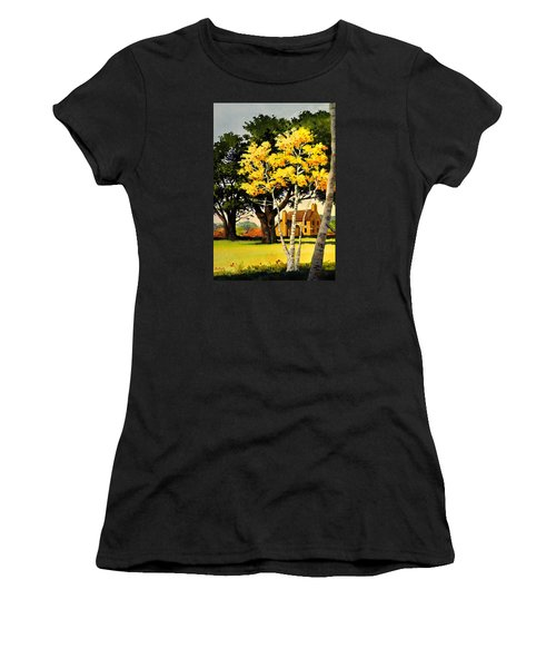 Yellow Birches Women's T-Shirt (Athletic Fit)