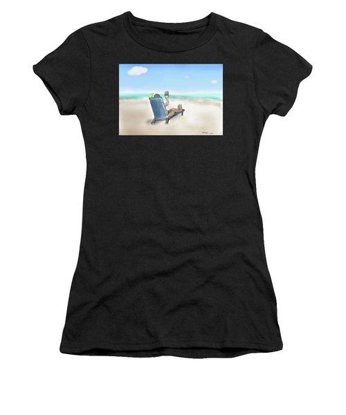 Yellow Bird Beach Selfie Women's T-Shirt