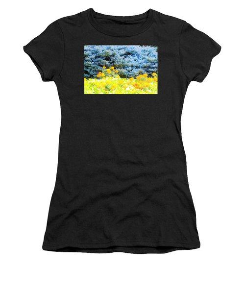 Yellow, Blue, Orange Women's T-Shirt