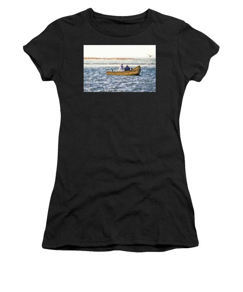 Yellow Boat - Women's T-Shirt (Athletic Fit)