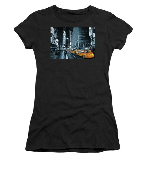 Yellow Broadway At Night - Nyc Women's T-Shirt