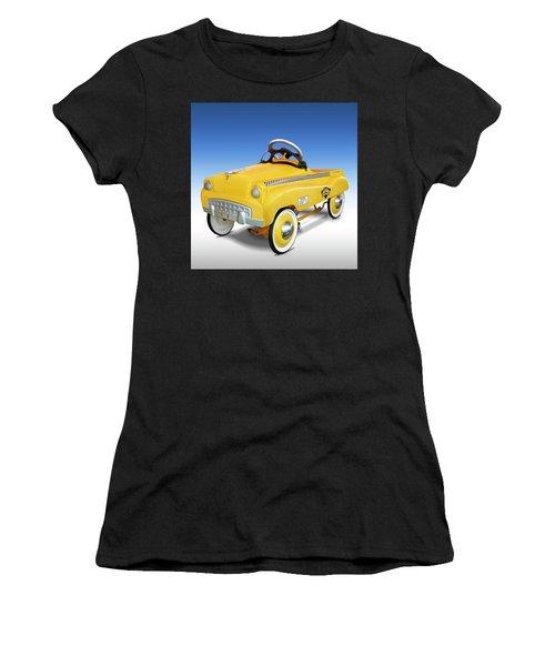 Yellow Cab Peddle Car Women's T-Shirt