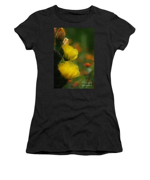 Yellow Cactus Flower Women's T-Shirt