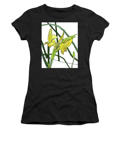 Yellow Canna Lilies Women's T-Shirt (Junior Cut) by Jamie Downs