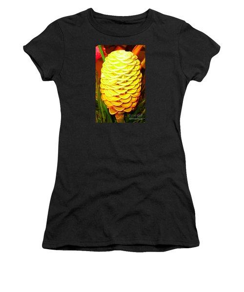 Women's T-Shirt (Junior Cut) featuring the photograph Yellow Cone Flower No. 1 by Merton Allen