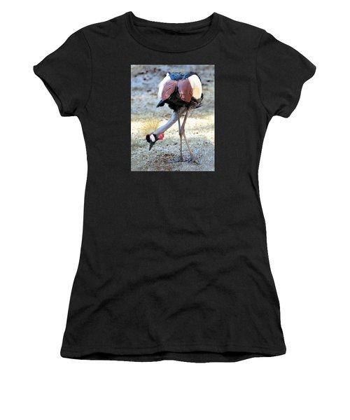 Yellow Crowned Crane Profile Standing Women's T-Shirt
