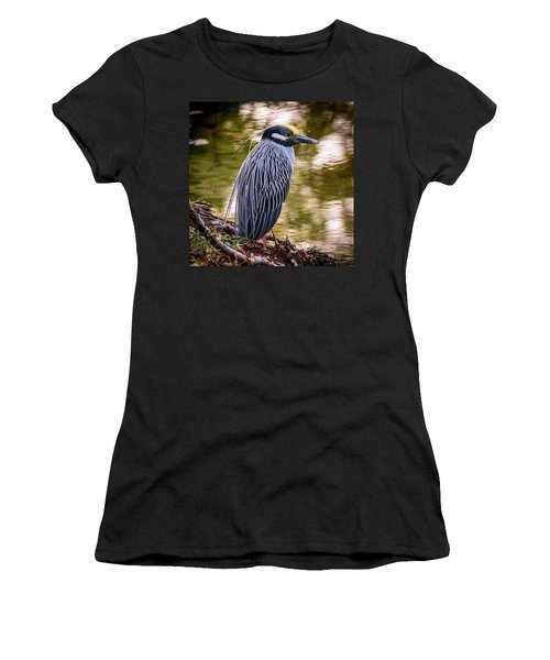 Women's T-Shirt (Athletic Fit) featuring the photograph Yellow-crowned Night-heron by Steven Sparks