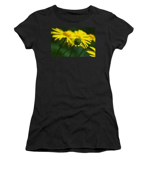 Yellow Daisy Bud Women's T-Shirt (Athletic Fit)
