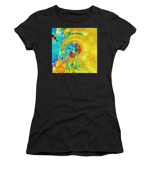 Yellow Eclipse  Women's T-Shirt (Athletic Fit)