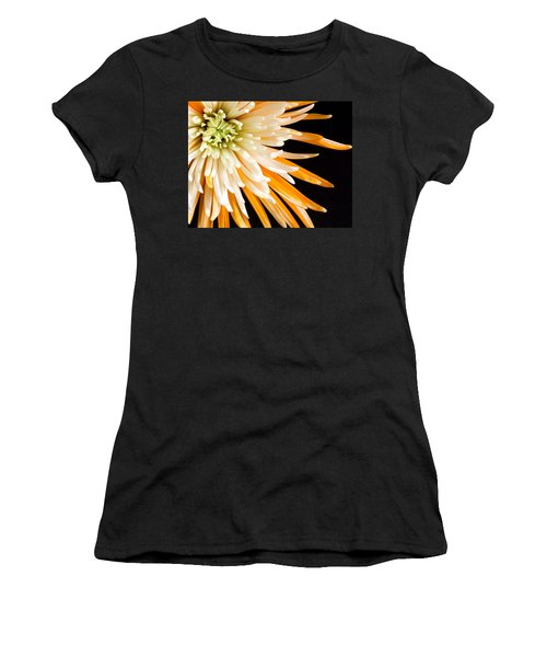 Yellow Flower On Black Women's T-Shirt