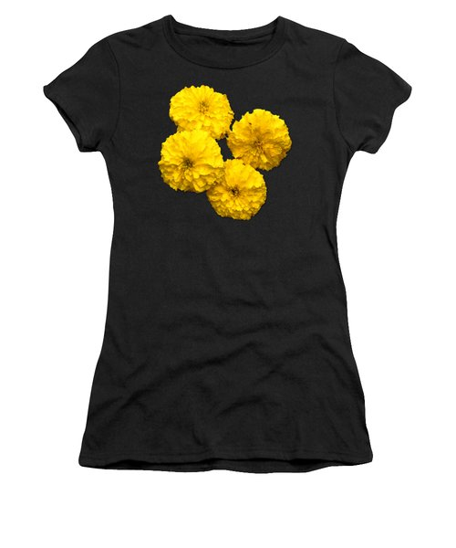 Yellow Flowers Women's T-Shirt (Athletic Fit)