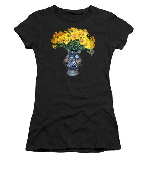 Yellow Flowers In Vase Women's T-Shirt