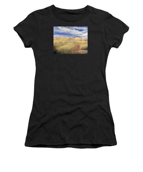 Yellow Hills Of Jensen Women's T-Shirt (Athletic Fit)