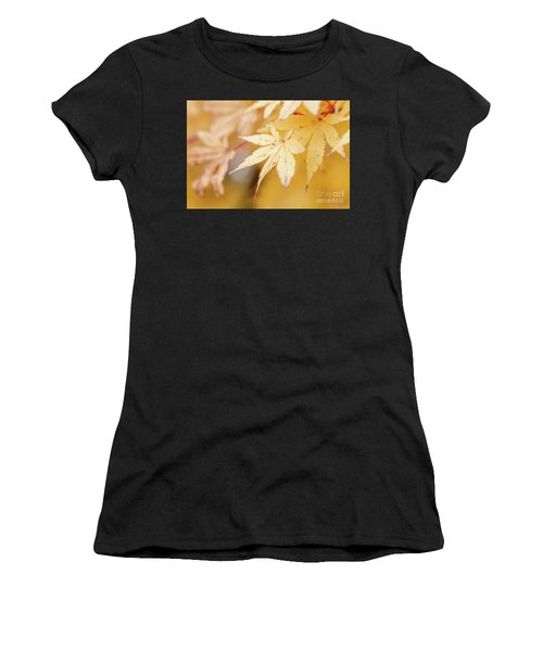 Yellow Leaf With Red Veins Women's T-Shirt