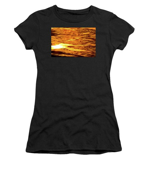 Yellow Light On Water  Women's T-Shirt (Athletic Fit)