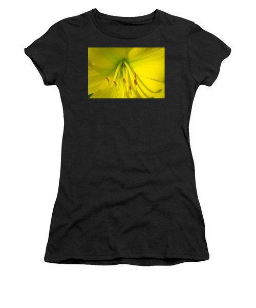 Yellow Lily Macro Women's T-Shirt (Athletic Fit)