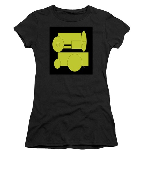 Yellow On Black Women's T-Shirt