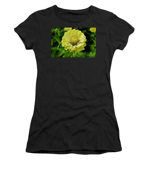Yellow On Yellow Women's T-Shirt (Athletic Fit)