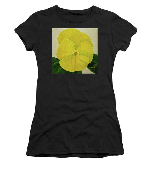 Yellow Pansy Women's T-Shirt (Athletic Fit)