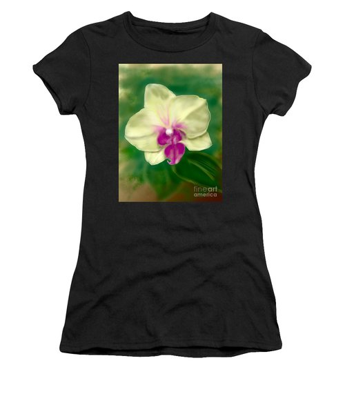 Yellow Phalenopsis Women's T-Shirt (Athletic Fit)