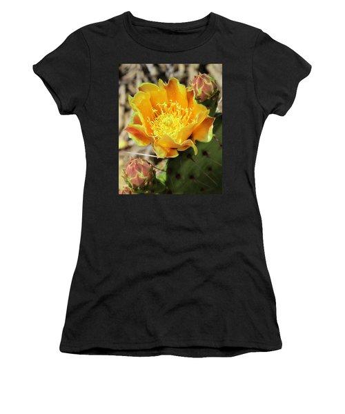 Yellow Prickly Pear Cactus Women's T-Shirt