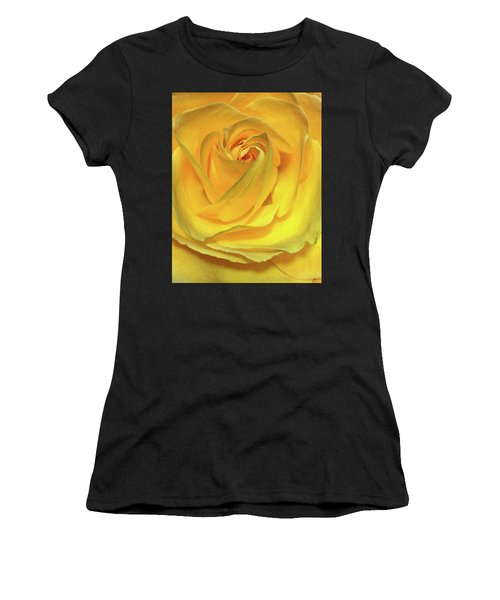 Yellow Rose Women's T-Shirt (Athletic Fit)