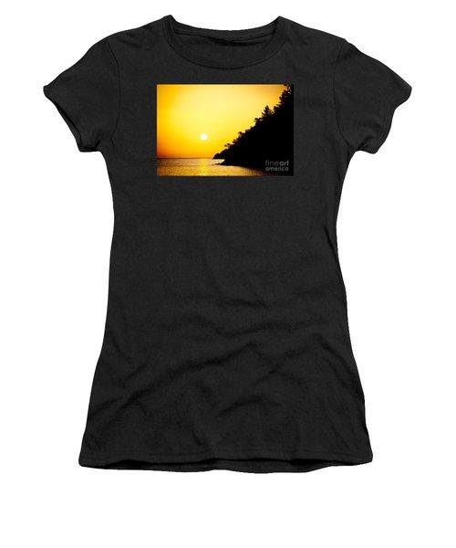 Yellow Sunrise Seascape And Sun Artmif  Women's T-Shirt