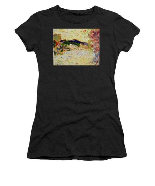 Beynac Et Cazenac , Dordogne , Yellow Sunshine  Women's T-Shirt