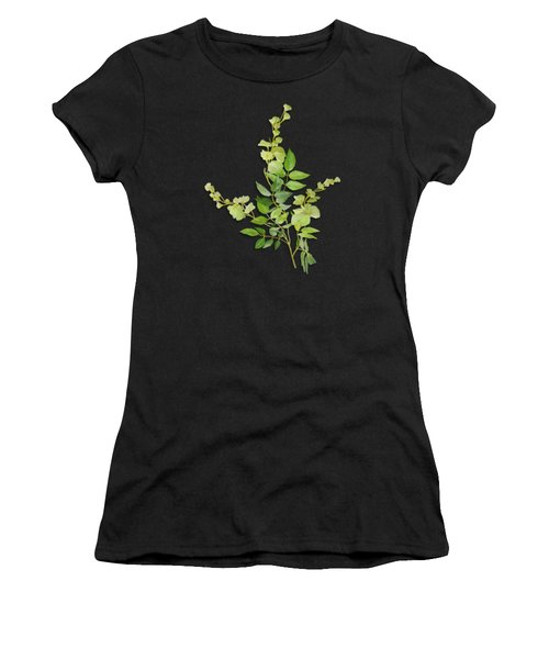 Women's T-Shirt featuring the painting Yellow Tiny Flowers by Ivana Westin