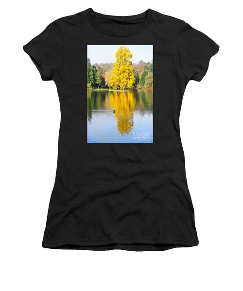 Yellow Tree Reflection Women's T-Shirt