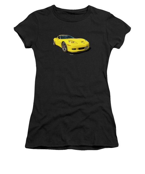 Yellow Vette Women's T-Shirt (Athletic Fit)