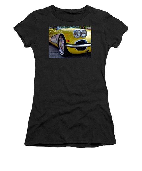 Yellow Vette Women's T-Shirt