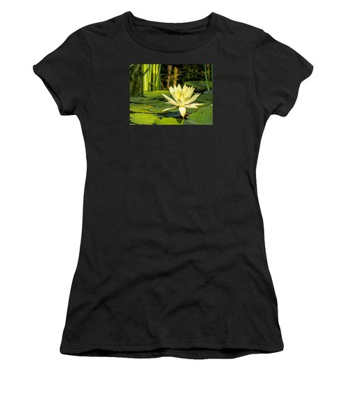 Yellow Water Lily Women's T-Shirt (Athletic Fit)