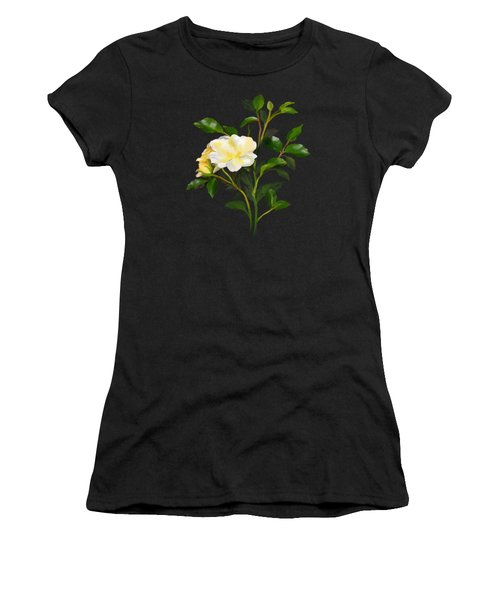 Women's T-Shirt featuring the painting Yellow Watercolor Rose by Ivana Westin