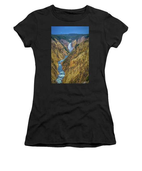 Yellowstone Falls Women's T-Shirt (Athletic Fit)