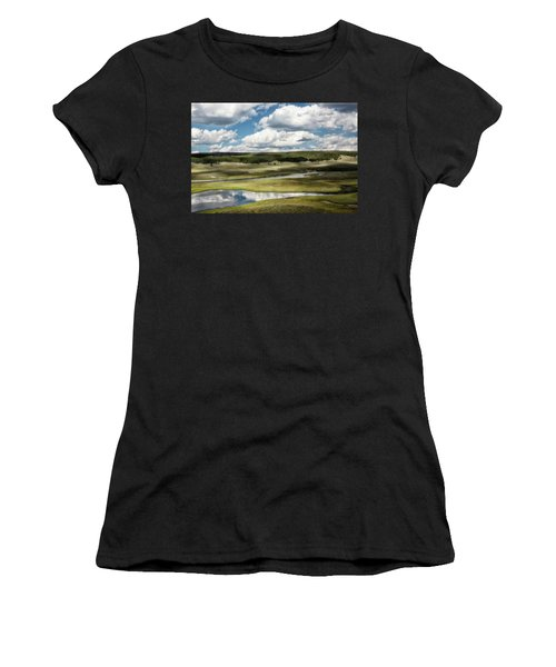 Yellowstone Hayden Valley National Park Wall Decor Women's T-Shirt (Athletic Fit)