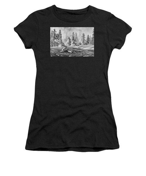Yellowstone In Winter Women's T-Shirt