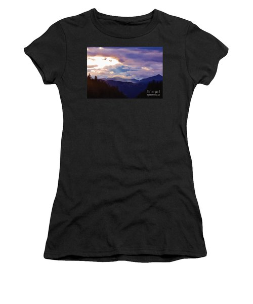 Women's T-Shirt (Athletic Fit) featuring the photograph Yellowstone by Larry Campbell