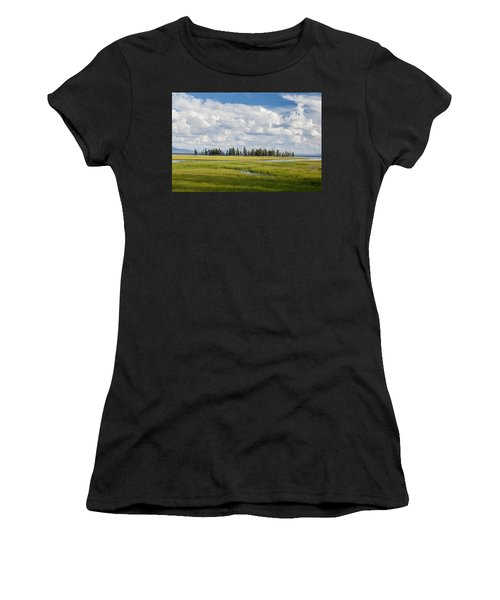 Yellowstone Meadow Women's T-Shirt (Athletic Fit)