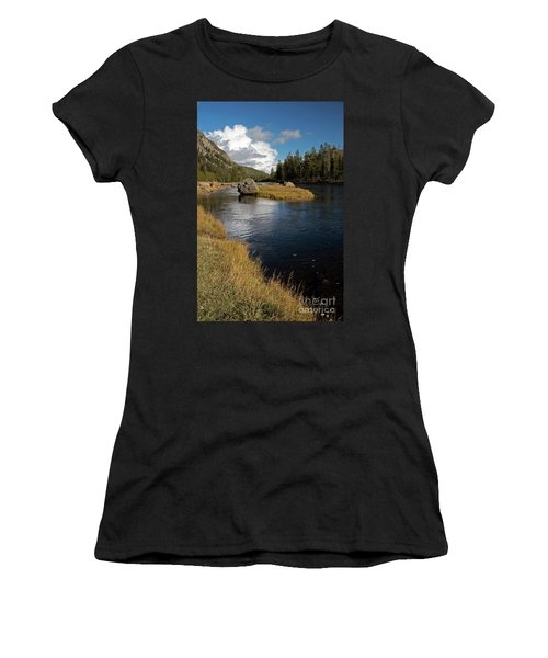 Yellowstone Nat'l Park Madison River Women's T-Shirt (Junior Cut) by Cindy Murphy - NightVisions